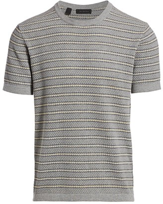 Saks Fifth Avenue COLLECTION Bubble Stitch Short Sleeve Sweater