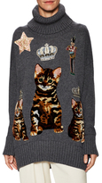Dolce & Gabbana Embroidered Cat Turtleneck