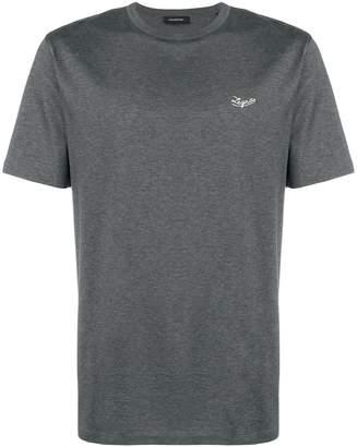 Ermenegildo Zegna embroidered logo T-shirt