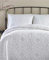 Jessica Simpson Cotton Medallion Gray Full/Queen Quilt Bedding