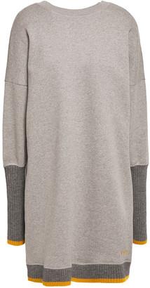 Victoria Victoria Beckham Color-block Cotton-fleece Mini Dress
