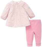 Offspring Pink Elephant Woven Tunic & Leggings Set