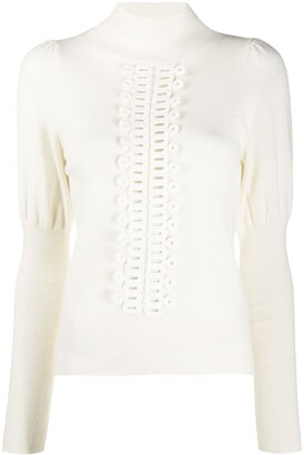 See by Chloe Embroidered-Detail Jumper