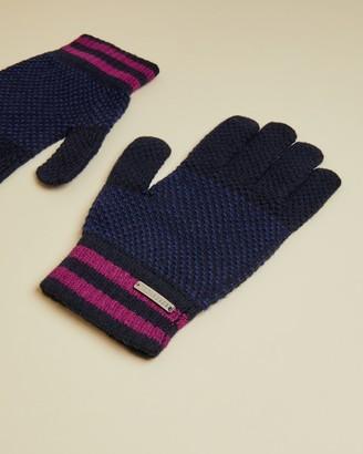 Ted Baker RUSHGLO Birdseye merino blend gloves
