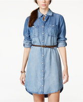 American Rag Denim High-Low Shirtdress, Only at Macy's