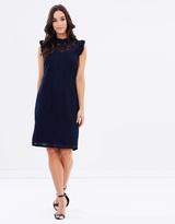Wallis Ruffle Lace Dress