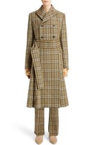 Toga Women's Check Double Breasted Wool Coat