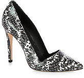 Dina Snake-Print Leather Pumps