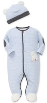 Little Me 2-Pc. Cotton Bear Hat & Footed Coverall Set, Baby Boys (0-24 months)