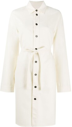 Jil Sander Tie-Waist Shirt Dress