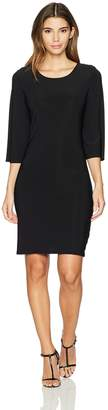 Star Vixen Women's Petite Bell Sleeve Keyhole Back Dress
