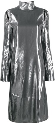 Acne Studios Metallized Cut-Out Dress