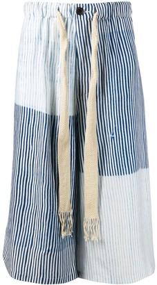 Loewe striped knee-length shorts