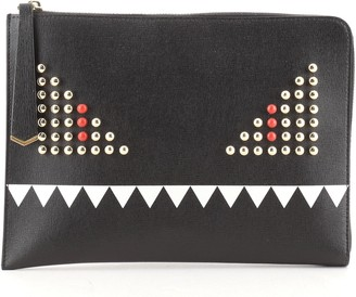 Fendi Monster Pouch Studded Leather Small