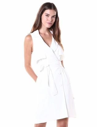 Halston Women's Sleeveless Trench Shirtdress