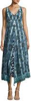 Nanette Lepore Windswept Floral Silk Midi Sundress, Black/Blue