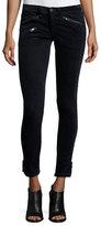 Rag & Bone RBW 23 Velvet Skinny Ankle Jeans, Navy