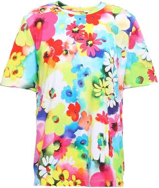 Love Moschino Floral-print Cotton-jersey T-shirt