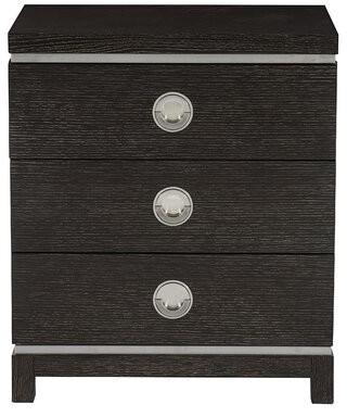 Bernhardt Decorage 3 - Drawer Nightstand in Black