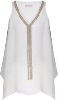 Brunello Cucinelli Monili-embellished silk tank top