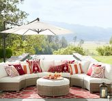 Pottery Barn Rounded Sectional Ottoman & Cushion