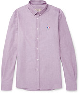 Maison Kitsuné - Button-down Collar Cotton Oxford Shirt