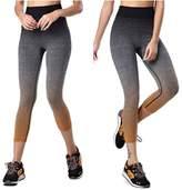 Happydog Women Yoga Pants Tights Running Leggings Tummy Control Exercise Pants(M, )
