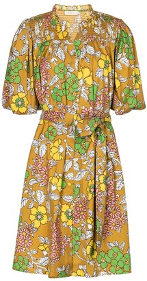 Tory Burch Floral belted minidress