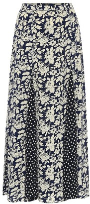 Polo Ralph Lauren Printed high-rise midi skirt
