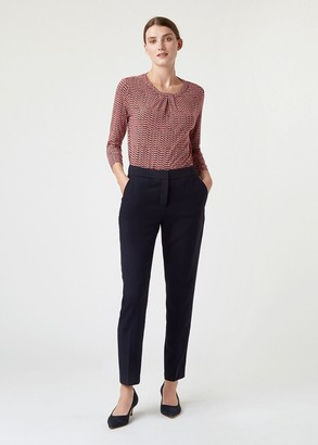 Hobbs Petite Gael Wool Blend Trouser With Stretch