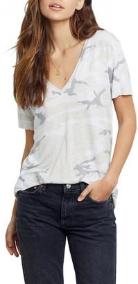 Rails Cara Camo-Print V-Neck Shirt