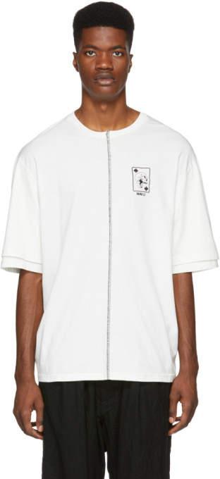 Yang Li White Double Sleeve T-Shirt