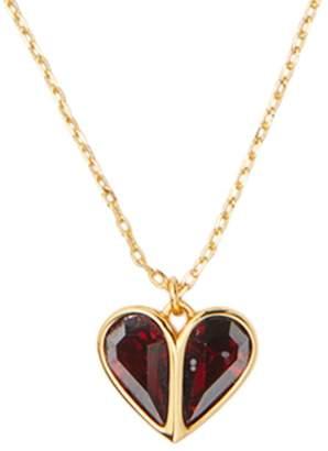 Kate Spade Stone Heart Mini Pendant Necklace