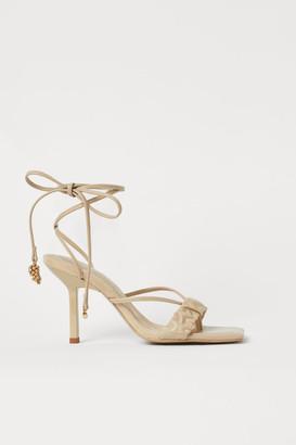 H&M Tie-strap Sandals - Beige