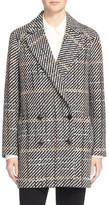 Theory Graphic Tweed Coat
