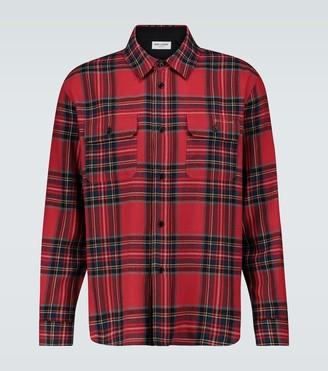Saint Laurent Tartan flannel shirt