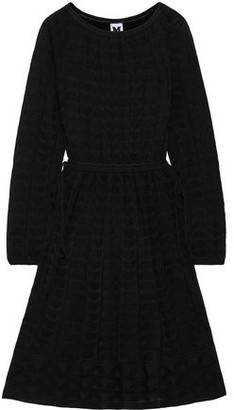 M Missoni Gathered Crochet-knit Wool-blend Dress