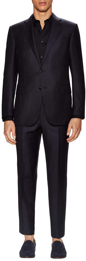 Ermenegildo Zegna Checkered Wool Suit