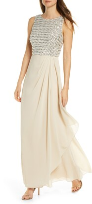 Vince Camuto Sequin Chiffon Gown
