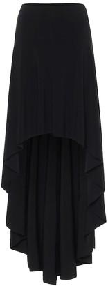 Norma Kamali Hi Low stretch-jersey midi skirt
