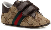 Gucci Ace Double-Strap Sneaker, Brown, Baby