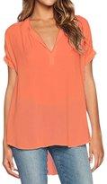 Dearlovers Women Summer Soft Loose Short Sleeve Shirts Blouse Tops
