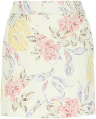 See by Chloe Spring Fruits Printed Mini Skirt
