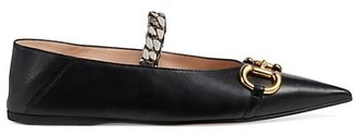 Gucci Ballet Flats with Chain and Horsebit