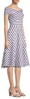 Milly Women's Rivera Stripe Knit Dress - White Black - Size XS