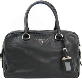 Prada Black Leather Boston Bag