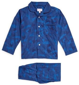 Derek Rose Kids Camouflage Print Pyjama Set (3-16 Years)