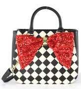 Betsey Johnson Bow On Bucket Tote Bag