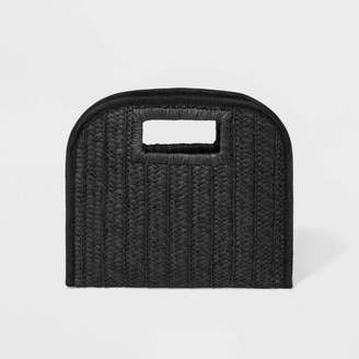 A New Day Cut Out Handle Straw Clutch