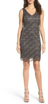 Pisarro Nights Women's Fan Motif Embellished Sheath Dress